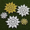 5pcs navidad decoración escena de vacaciones regalos de navidad del copo de nieve