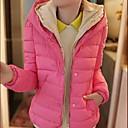abrigo de manga larga de color de contraste de las mujeres yuwinne