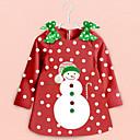 niña de vestido rojo santa niños traje de la Navidad
