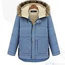 KissTiesWomens Winter Thickening Hoodie Fur Collar Down Cotton Coat