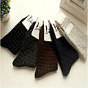 los calcetines de lana diamante celosía conejo macho de tibia zhuoshang mujeres A002 color al azar