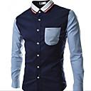 camisa de manga larga de la moda coreana de los hombres Manba