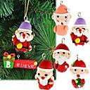 6pcs de barro hechas a mano polímero accesorios de Navidad los regalos de decoración de árboles de navidad