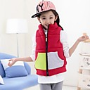 Girls Candy Color Stitching Vest