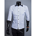 Brother New Contrast Color Causal Shirt  9115(black,white)