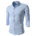 Brother New Causal Stand Collar Long Sleeve Shirt  5034(blue,white,black)