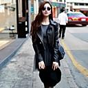 abrigo de cuero con cremallera guapo de las mujeres (más colores)