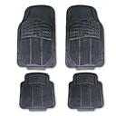 4pcs tirol / set con alfombra corredor recortable coche de goma del automóvil de alta resistencia negro