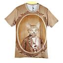 la moda de los hombres de arándanos 3d imprimir corta camiseta 2007