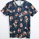 Blueberry Mens Fashion 3D Print Short Tshirt 3031