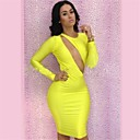 Club Girl 2014 New Fashion Women Spring Long Sleeve Dress Sexy Hollow Out Backless Dress CD026