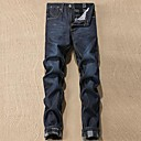 Mens Slim Casual Thicken Jeans