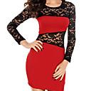 Adela Womens Lace Sexy Long Sleeve Dress