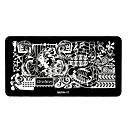 1pcs diseños elegantes del arte del clavo imagen bricolaje sello estampado placas plantilla manicura # 17