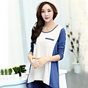 TS Womens Casual Contrast Color Loose T-shirt