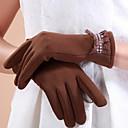 coreano golves diamonade color sólido de los dedos de la mujer de oro