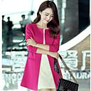 Loria bodycon cuello redondo estilo coreano abrigo de la mujer