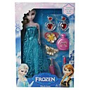 chispa congelado felpa elsa princesa muñeca y anna con accesorios cosméticos