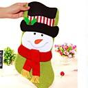 1pcs alto grado de dibujos animados de peluche de regalo de navidad bolsas de población (patrón aleatorio)