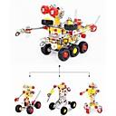 3 en 1 modelo de juguete mágico camarero robot montado aleación inoxidable desarrollo intelectual bricolaje