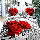 Shengyue Floral Print 4-Piece Comfortable Sheet Set