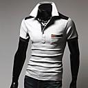 camisa de manga corta casual quteng hombres