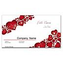 negocio de tarjetas de 200pcs 2 lados impresa patrón rojo y blanco