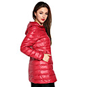 YDW Women's Fashion Thick Slim Long Down Jacket SV008306 Red