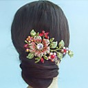 Women's Vintage Alloy Rhinestone Crystal Flower Hair Comb