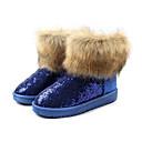 color sólido botas de nieve que brilla de piel