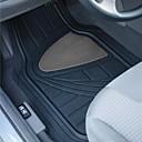 4pcs tirol / set deber semi costumbre pesado coche de goma del automóvil alfombra del piso universal de ajuste negro / gris