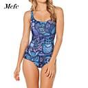 azul sexy traje de baño impreso mono bodycon hotbikini de mcfcwomen
