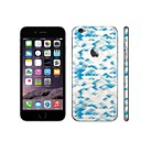 SKINAT 3M soft skin for iPhone 6 Plus sticker back decals sticker set cute blue wheat 1mobile phone stickers