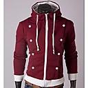 color de soporte con capucha de lana de lana jersey de los hombres mandy