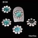 10pcs azules puntas de las uñas de aleación de girasol Rhinestone DIY decoración del arte del clavo