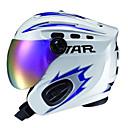 blanco estrella unisexamp;azul abs completo casco de la cara con gafas de esquí de nieve