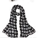 cráneo de la moda patrón bufanda escarpada sophia de la mujer