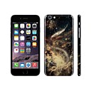SKINAT DIY sticker for iPhone 6 plus(hide logo) back decals sticker decoration yellow universe mobile phone stickers
