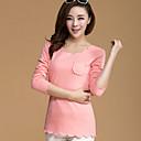 camisa nueva causal de algodón coreano engrosamiento delgada más la manga larga de terciopelo de tocar fondo de las mujeres Wanyi