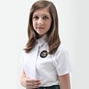 blusa blanca escolares uniformes de las niñas con el lazo gallardo