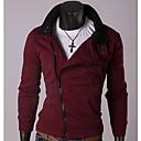 cuello alto con cremallera de lana vellón jersey de los hombres mandy