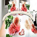 BAOLISI Flower Print 4-Piece Duvet Cover Set