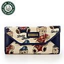 carteras clásicas de la lona de la señora del monedero de las mujeres Daka Bear cremallera moneda bolsa de algodón lienzo bolso