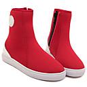 moda plana botas talón de las mujeres rojas de hadas