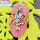 10pcs especial taza de diseño de lujo de diamantes de imitación del arte del clavo 3d aleación rh729 uñas bricolaje salón de belleza de uñas