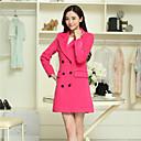 abrigo abrigo de doble botonadura de Shanghai mujeres