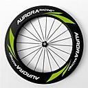 aurora carreras de 700c 88mm ancho 23mm ruedas ruedas de fibra de carbono remachador bicicleta