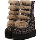 Womens Shoes Fashion Boots Wedge Heel Mid-Calf Boots More Colors available