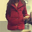 algodón delgado engrosamiento tipo abrigo corto de Zebro mujeres