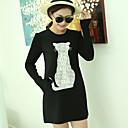 camisa de manga larga de las mujeres ouzhuoni europeo coreano cuello redondo